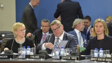 Meeting of the Foreign Ministers at NATO Headquarters in Brussels- North Atlantic Council Meeting with EU, Finland and Sweden
