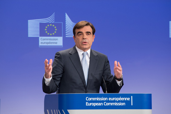 Margaritis Schinas at the podium