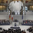 French President Hollande addresses joint meeting of German Bundestag and French National Assembly at Reichstag in Berlin