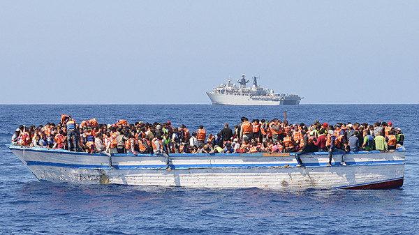 BRITAIN-LIBYA-AFRICA-EUROPE-MIGRANTS-NAVY